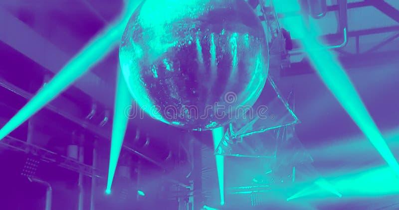 Luzes do partido da bola do espelho do disco imagem de stock