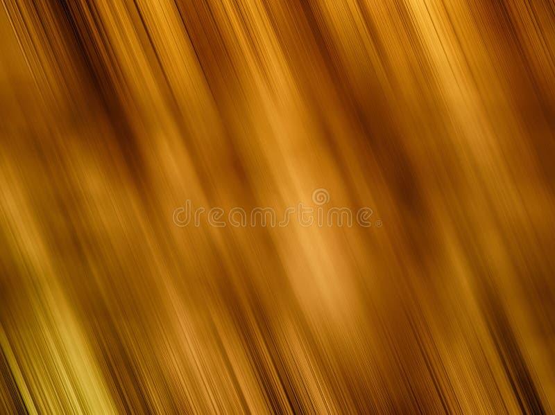 Luzes douradas oblíquas abstratas do borrão de movimento ilustração do vetor