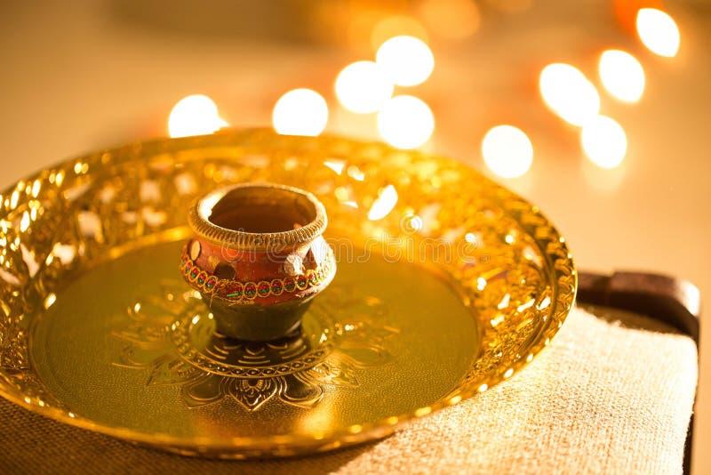 Luzes e diyas de Diwali foto de stock royalty free