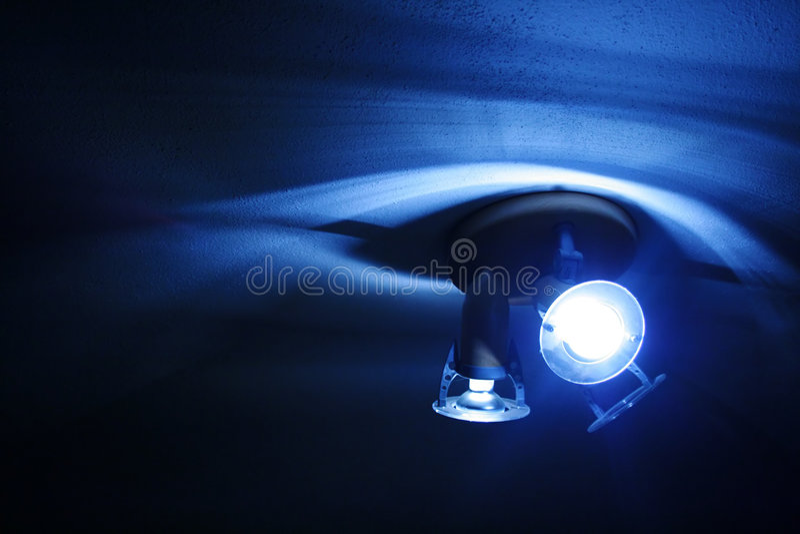 Luzes e sombras - azul imagens de stock royalty free