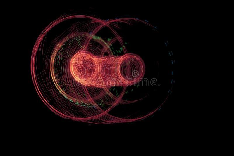 Luzes elétricas na obscuridade imagens de stock