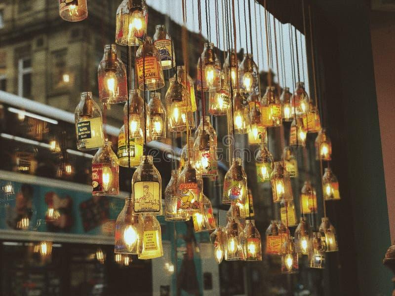 Luzes engarrafadas imagem de stock royalty free