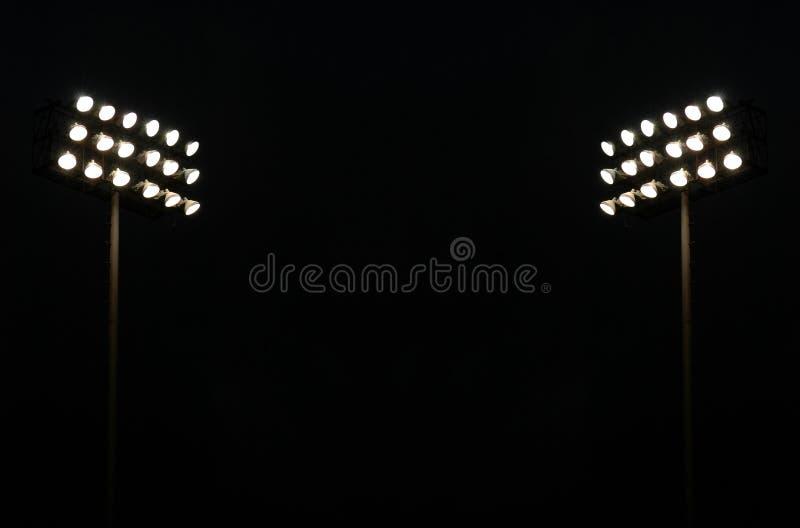 Luzes gêmeas do estádio imagem de stock