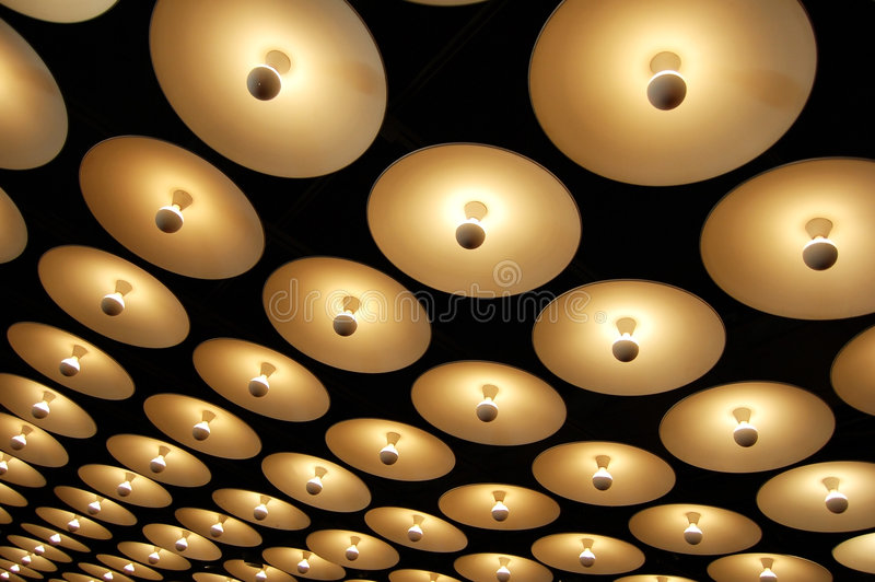 Luzes infinitas imagens de stock royalty free