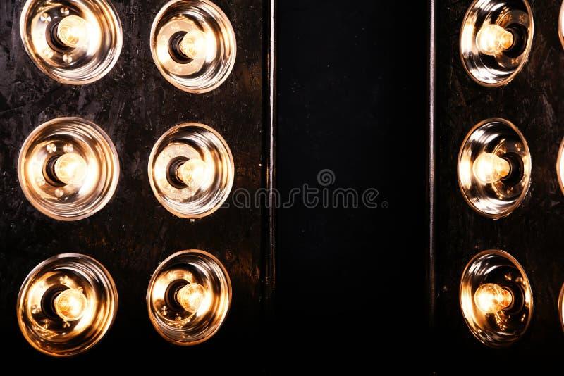 Luzes instantâneas dos projetores spotlights foto de stock royalty free