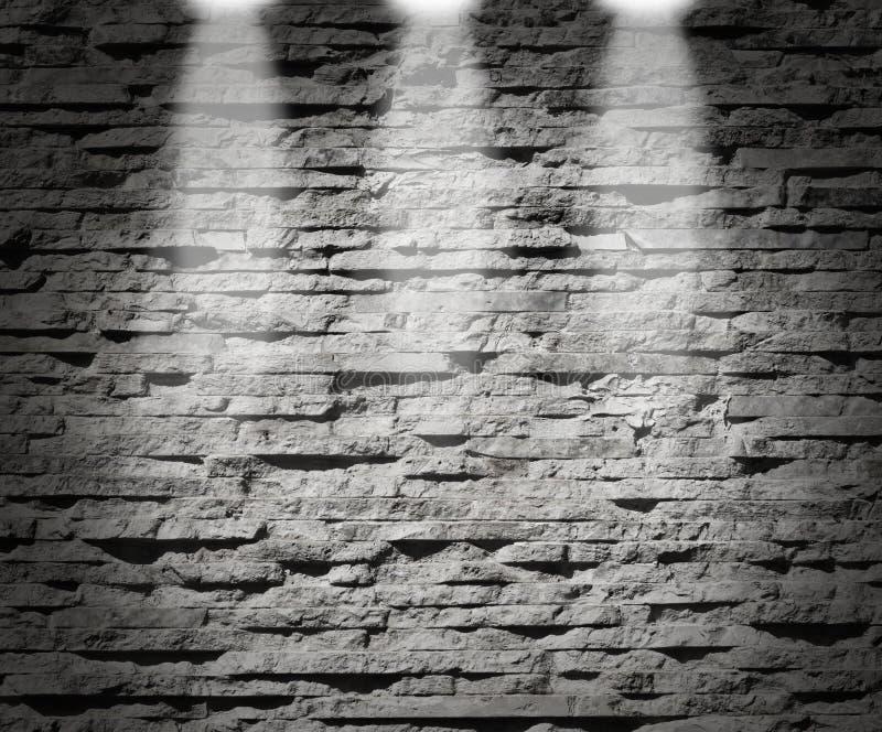 Luzes modernas da decoração da parede de pedra fotos de stock