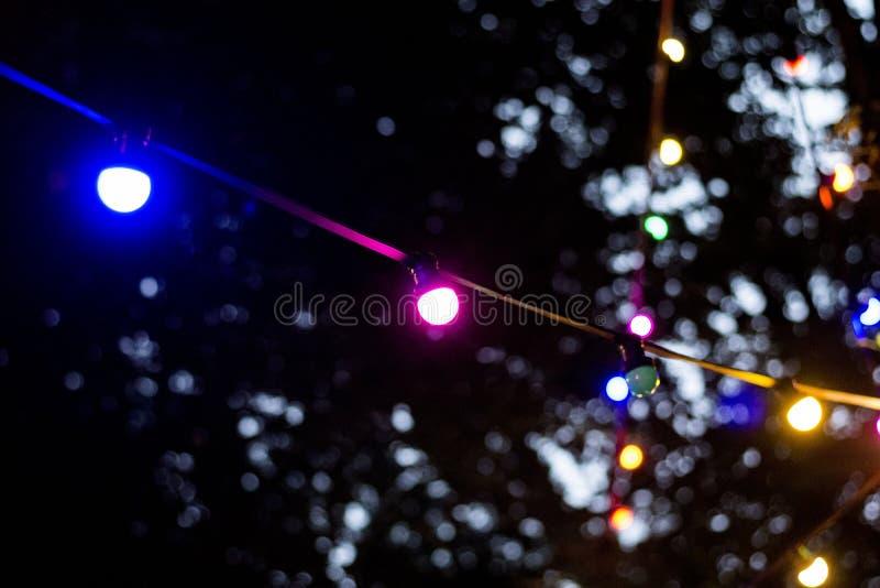 Luzes na noite foto de stock royalty free