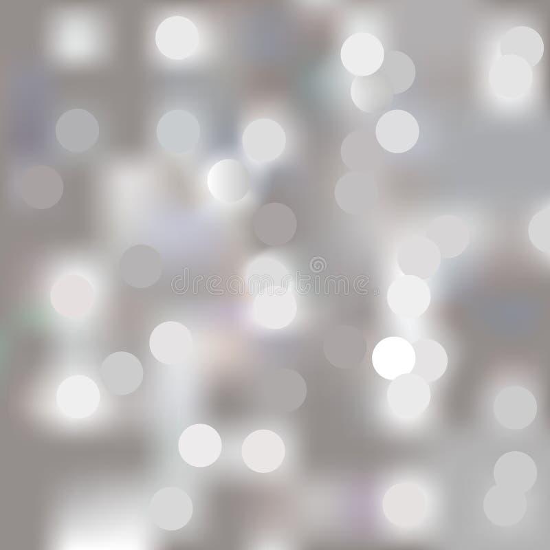 Luzes no fundo cinzento ilustração stock