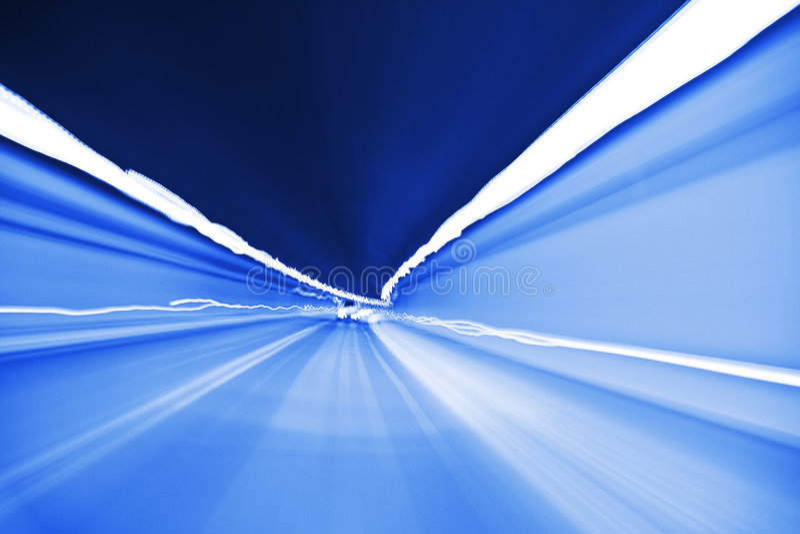 Luzes no túnel foto de stock royalty free
