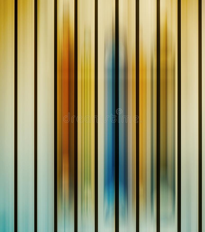 Luzes paralelas coloridos do borrão de movimento vertical ilustração royalty free