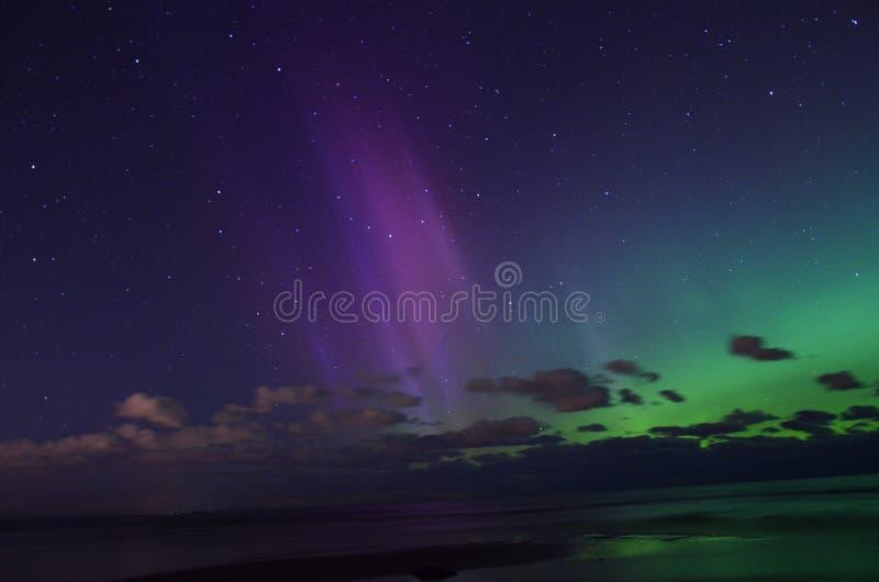 Luzes polares do aurora borealis fotos de stock royalty free