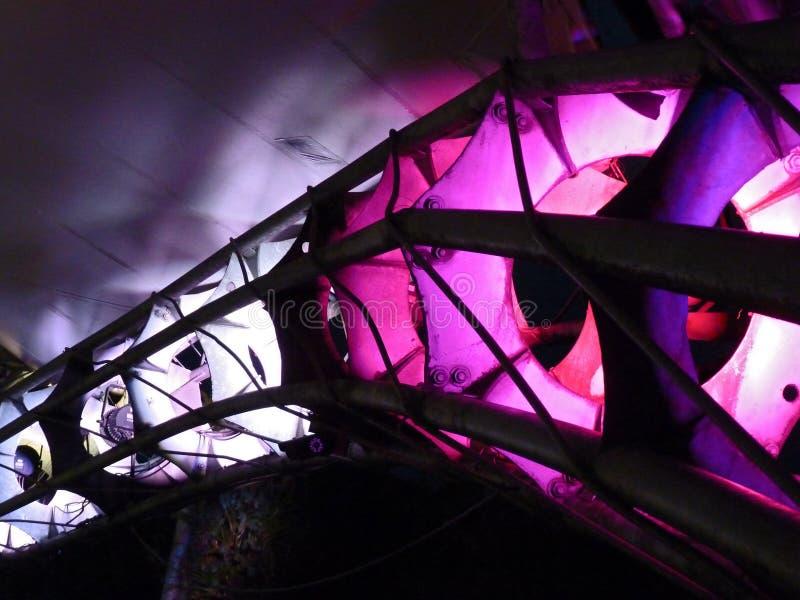 Luzes roxas fotos de stock
