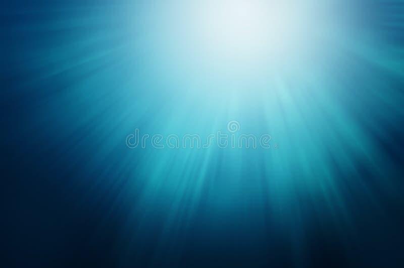 Luzes sob o mar fotografia de stock
