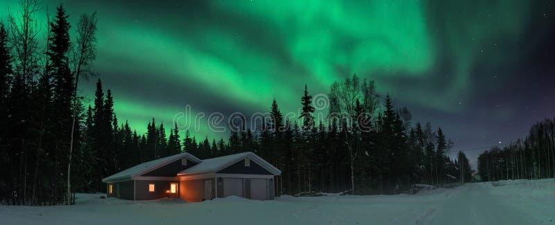 Luzes sobre o Polo Norte fotografia de stock royalty free
