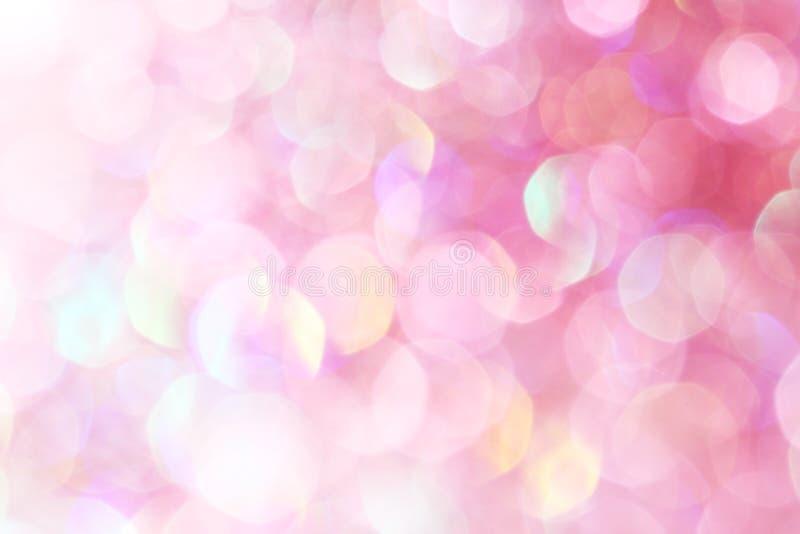 Luzes suaves abstratas elegantes do fundo do Natal festivo cor-de-rosa fotografia de stock royalty free