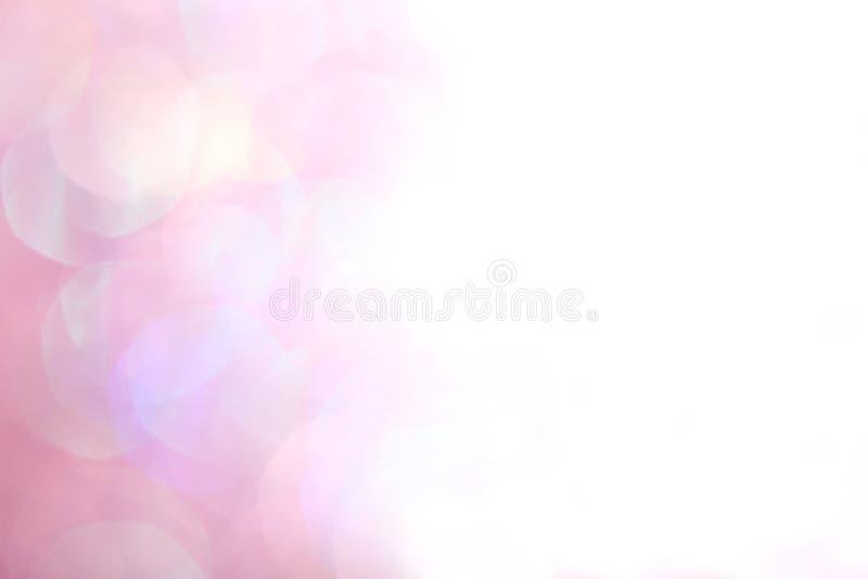 Luzes suaves abstratas elegantes do fundo do Natal festivo cor-de-rosa imagem de stock