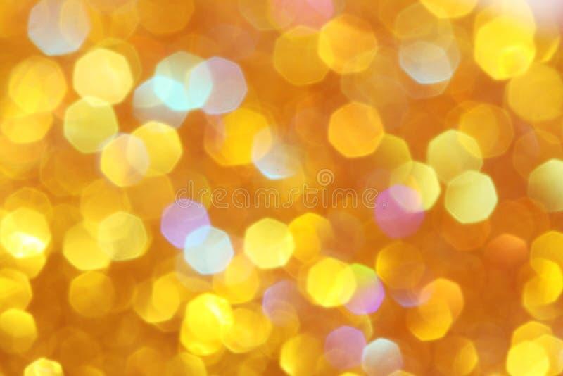 Luzes suaves laranja, amarelo do fundo do ouro, turquesa, laranja, bokeh abstrato vermelho fotografia de stock royalty free