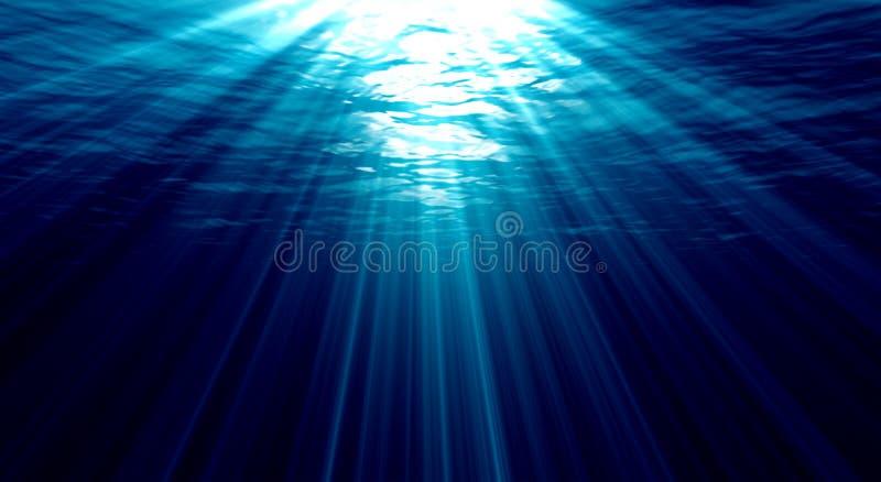Luzes subaquáticas ilustração stock