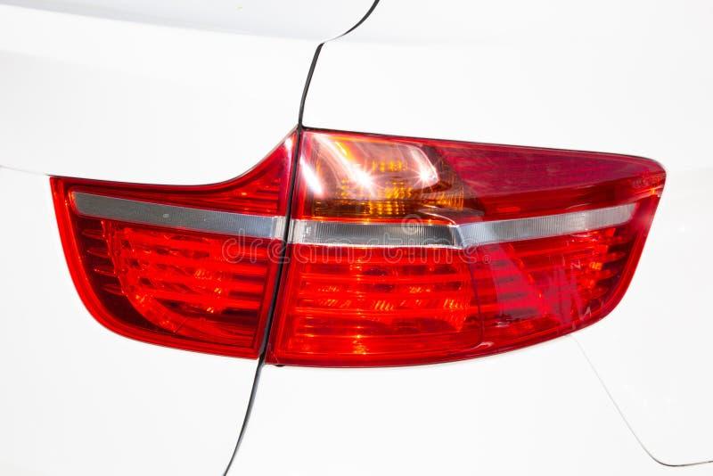 Luzes traseiras da lanterna traseira do carro do carro fotos de stock
