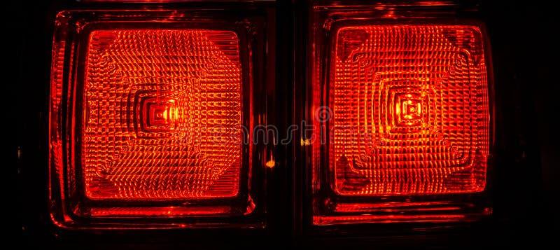 Luzes traseiras do carro fotos de stock royalty free