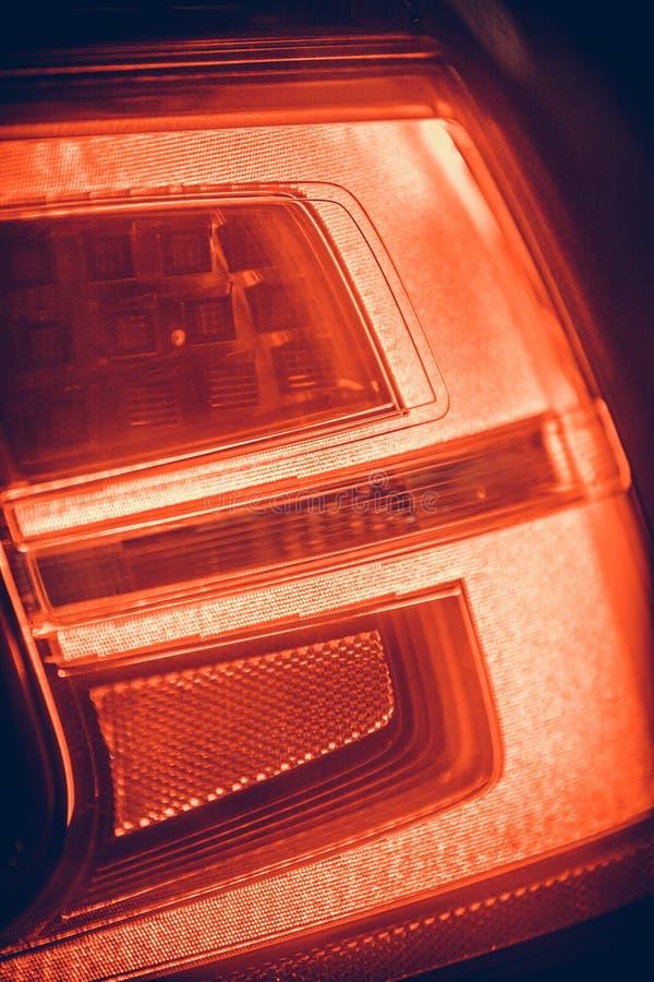 Luzes traseiras do carro moderno imagens de stock royalty free
