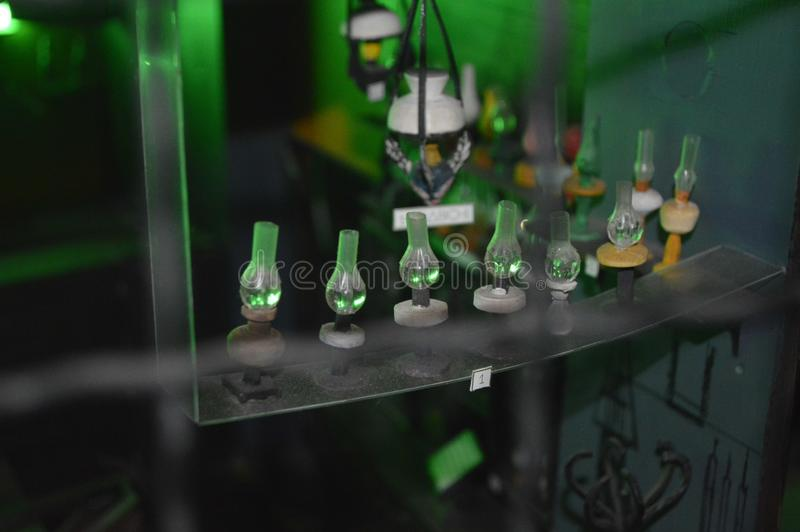 Luzes verdes imagens de stock