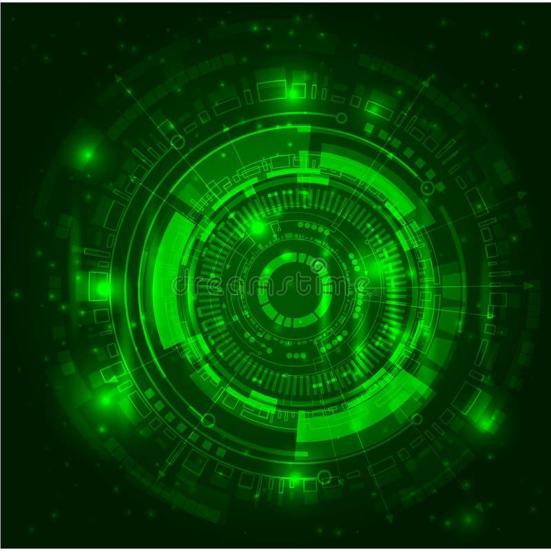 Luzes verdes brilhantes abstratas ilustração do vetor