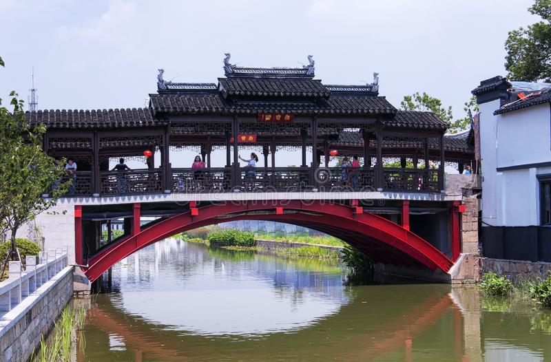 Luzhi vattenstad Suzhou Kina royaltyfria bilder