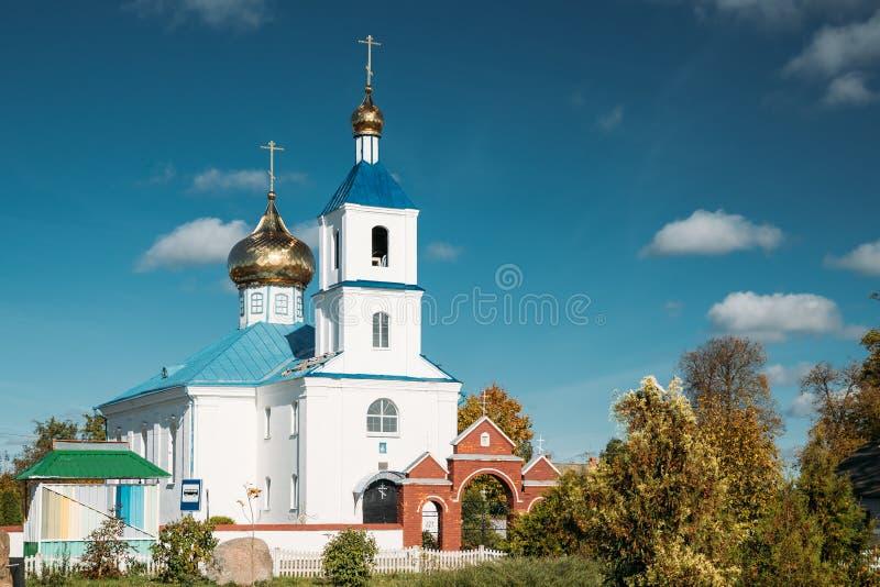 Luzhki, región de Vitebsk, Bielorrusia Iglesia ortodoxa de la natividad de foto de archivo libre de regalías