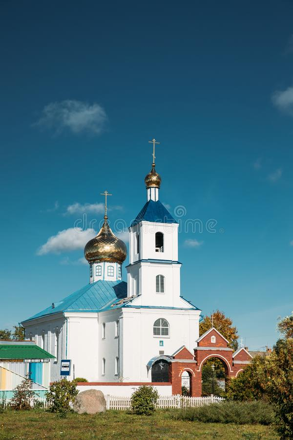 Luzhki, región de Vitebsk, Bielorrusia Iglesia ortodoxa de la natividad de imágenes de archivo libres de regalías