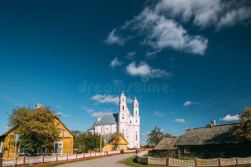 Luzhki, región de Vitebsk, Bielorrusia Iglesia de St Michael Archangel fotografía de archivo libre de regalías