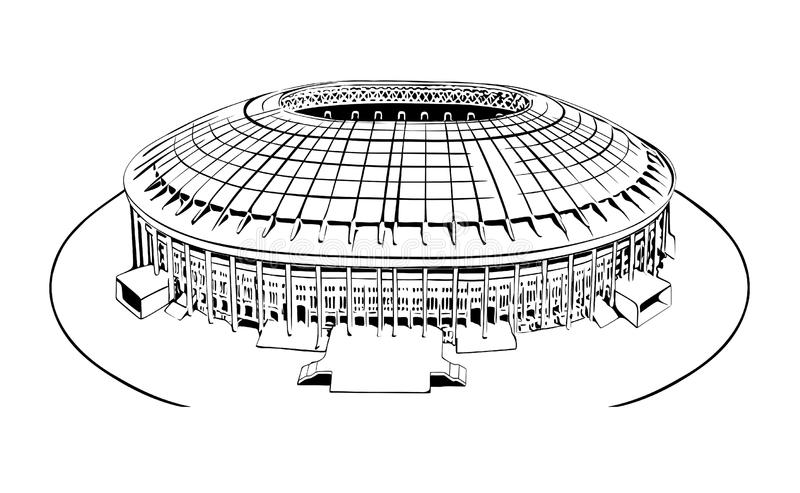 Luzhniki lizenzfreie abbildung