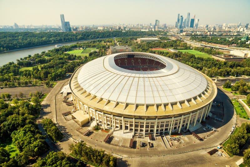Luzhniki-Stadion in Moskau lizenzfreie stockfotografie