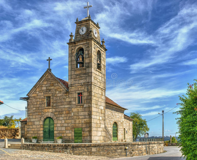 Download Luzim church in Penafiel stock image. Image of christian - 95293783