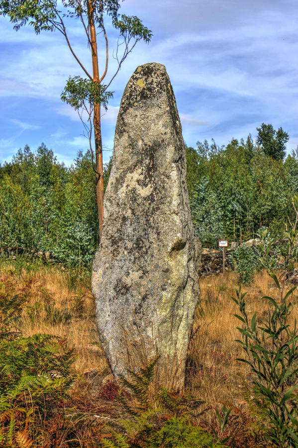 Download Luzim menhir in Penafiel stock image. Image of past, history - 95293519