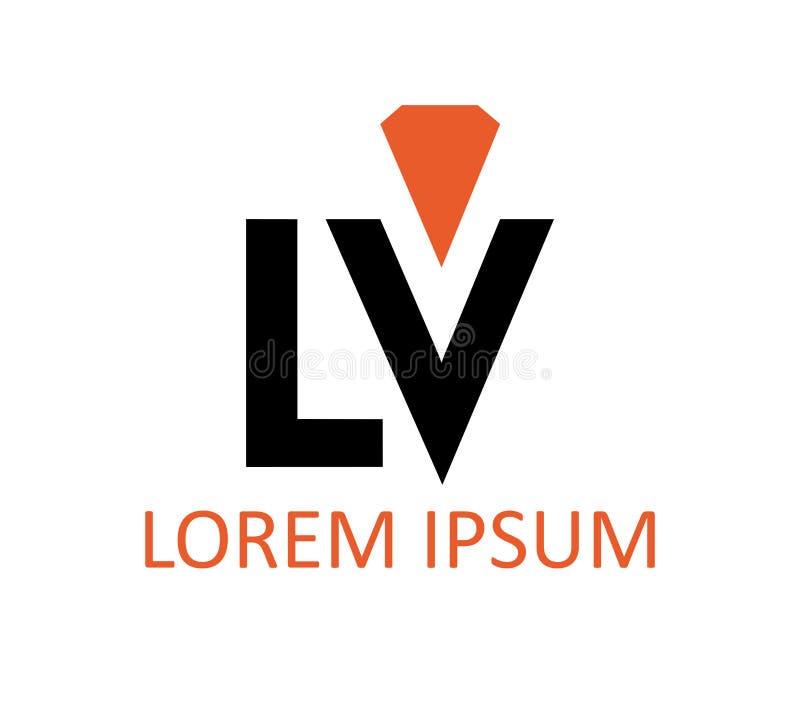 Download LV Logo Design stock illustration. Image of letter, isolated - 83705372