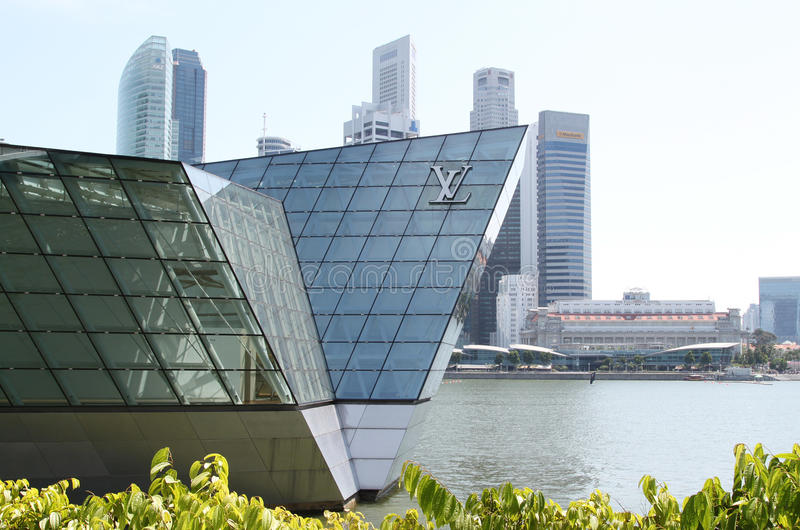 Download LV Pavilion at Singapore editorial photo. Image of busy - 34299656