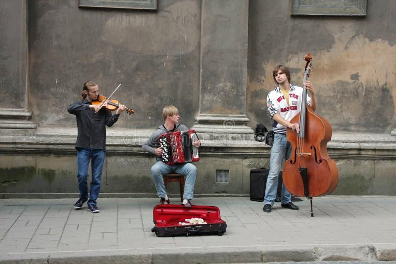 lviv οδός απόδοσης μουσικών στοκ εικόνες με δικαίωμα ελεύθερης χρήσης