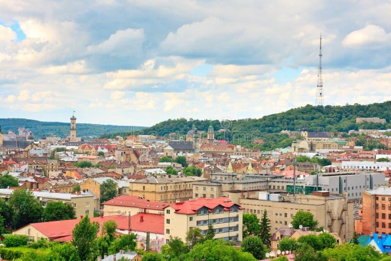 Download Lviv Am Bewölkten Tag. Ukraine Stockbild - Bild von downtown, östlich: 26352315