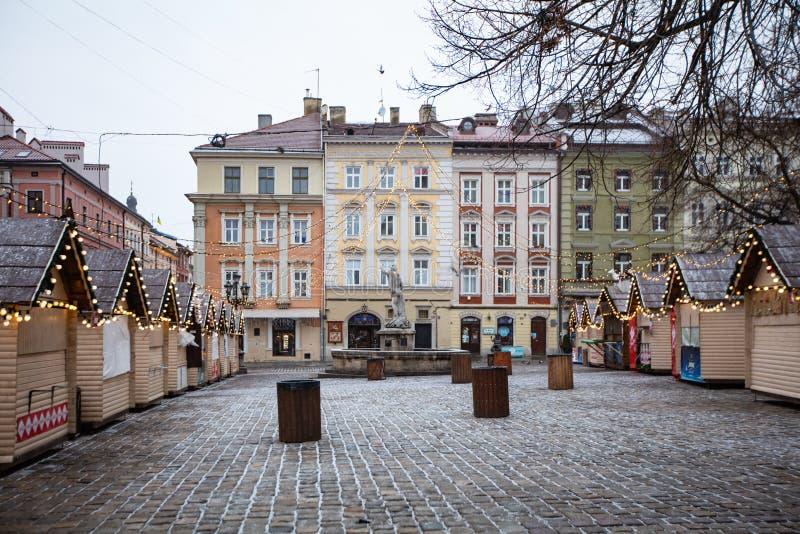 Lviv Christmas Market 2021 Lviv Christmas Market 2021 During Covid 19 Quarantine Editorial Photography Image Of Background Area 207049987