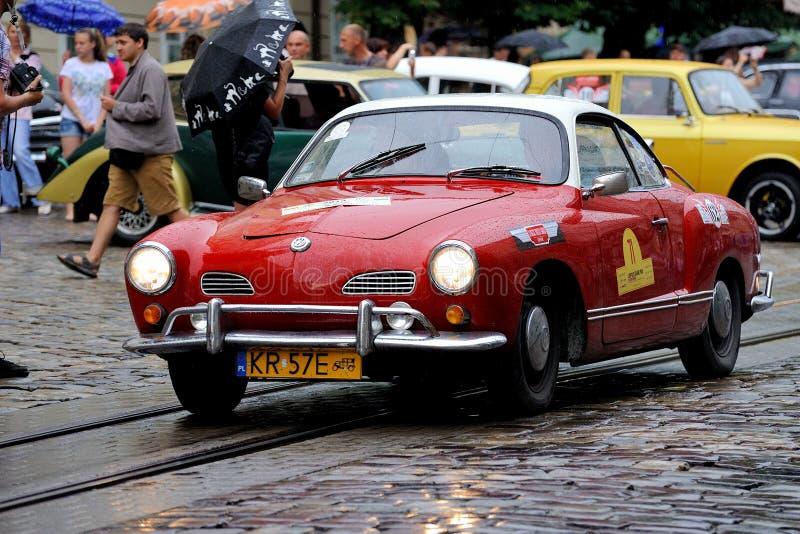 Lviv, de Oekraïne - Juni 2015: Autogrand prix 201 van festivalleopolis stock afbeelding