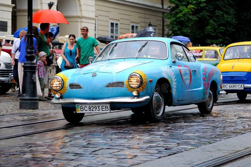 Lviv, de Oekraïne - Juni 2015: Autogrand prix 201 van festivalleopolis stock fotografie