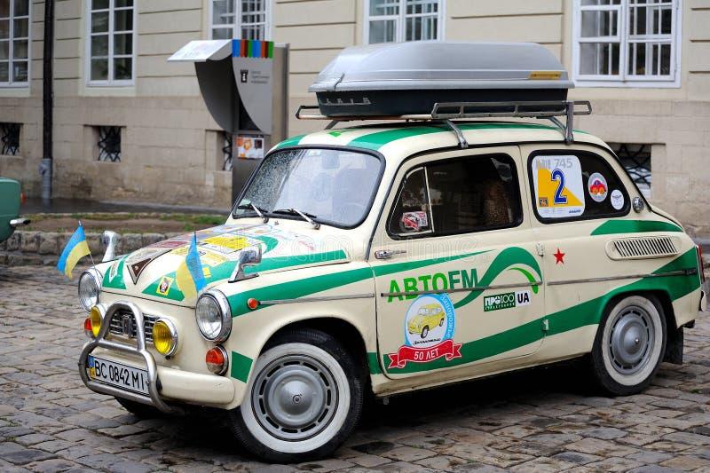 Lviv, de Oekraïne - Juni 2015: Autogrand prix 201 van festivalleopolis royalty-vrije stock afbeeldingen