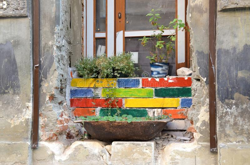 Lviv, het historische centrum van de stad stock fotografie