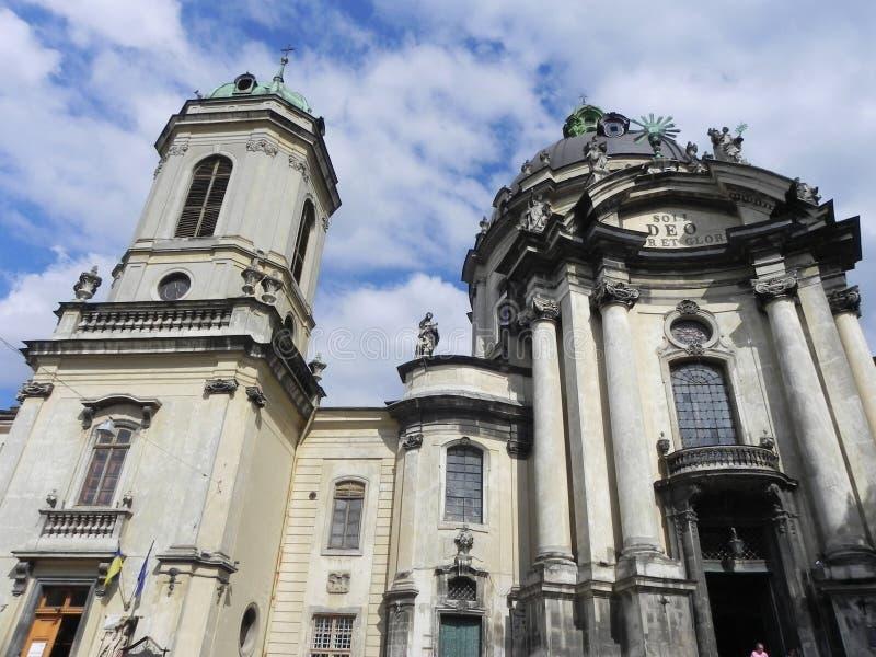 Lviv kościół zdjęcia royalty free
