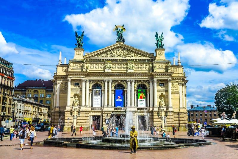 Lviv Krajowa opera 01 zdjęcie stock