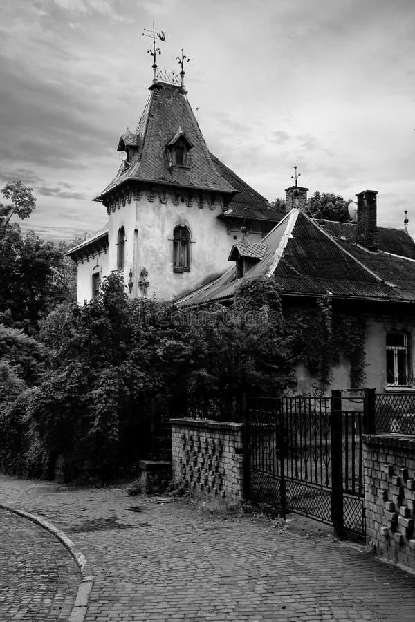 Lviv mansion. Old mansion in Lviv, Ukraine royalty free stock images