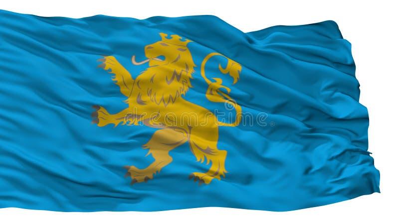 Lviv Oblast stadsflagga, Ukraina som isoleras på vit bakgrund vektor illustrationer