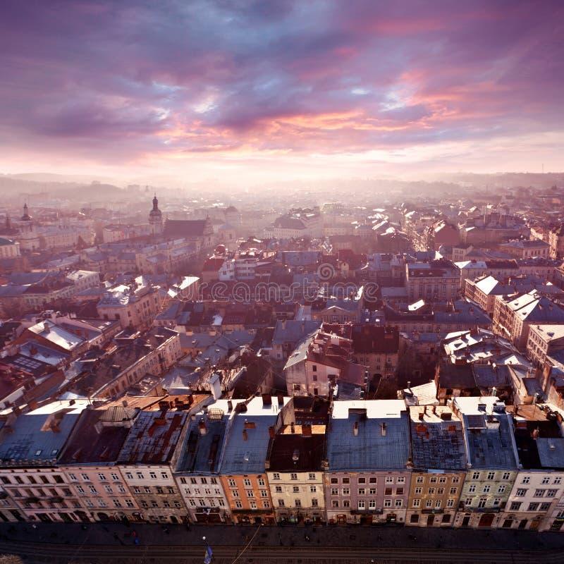 lviv panorama obraz royalty free