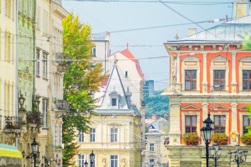 Lviv, place d'Ukraine-marché photo libre de droits